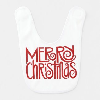 Merry Christmas red baby Bib