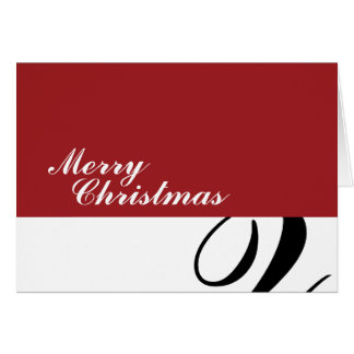 Merry Christmas - Red/Black Squiggle Card