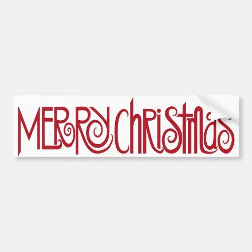 Merry Christmas Red Bumper Sticker