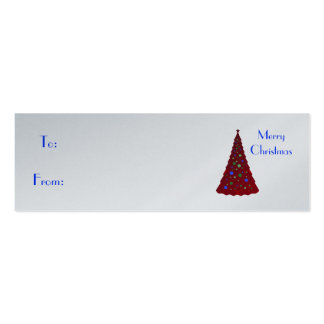 Merry Christmas red Christmas tree Business Card