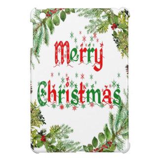 Merry Christmas red & green iPad Mini Cover