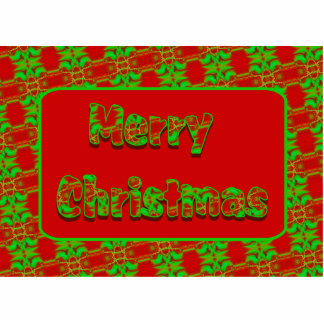 merry christmas red green photo cutout