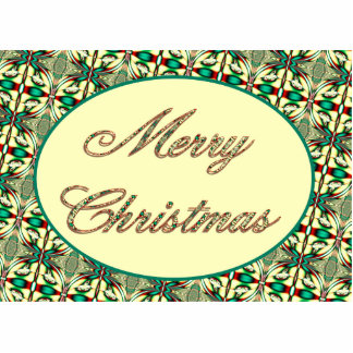 merry christmas red green photo cut outs