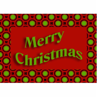 merry christmas red green acrylic cut out