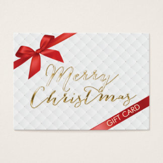 Merry Christmas Red Ribbon Gift Certificate