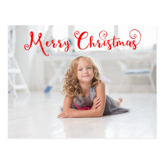 Merry Christmas Red Script - Post Card