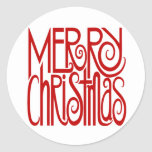 Merry Christmas Red Sticker