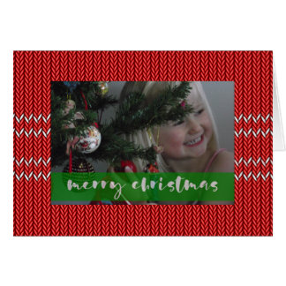 Merry Christmas Red Sweater Card