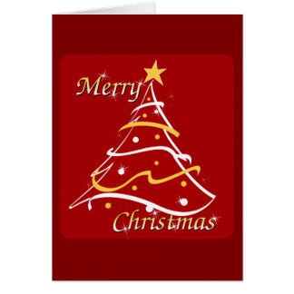 Merry Christmas Red Tree Card