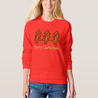 Merry Christmas Red Tree Cookies Sweatshirt