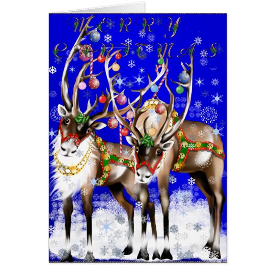 Merry Christmas Reindeer Card