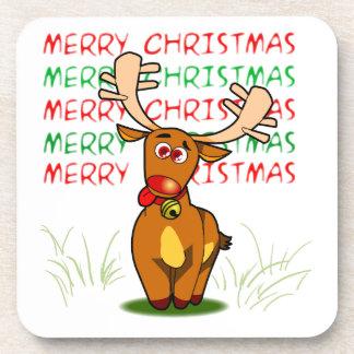 Merry Christmas Reindeer Coaster