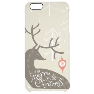 Merry Christmas Reindeer Cozy Clear iPhone 6 Plus Case