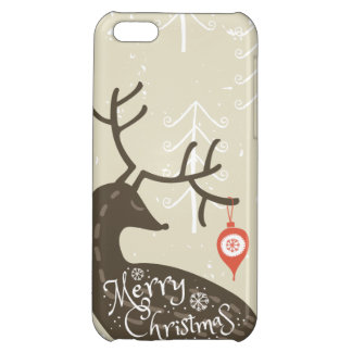 Merry Christmas Reindeer Cozy Cover For iPhone 5C