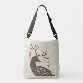 Merry Christmas Reindeer Cozy Crossbody Bag