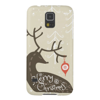 Merry Christmas Reindeer Cozy Galaxy S5 Cases