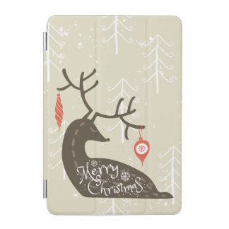 Merry Christmas Reindeer Cozy iPad Mini Cover