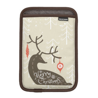 Merry Christmas Reindeer Cozy iPad Mini Sleeves