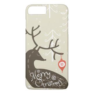 Merry Christmas Reindeer Cozy iPhone 8 Plus/7 Plus Case