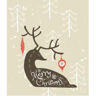 Merry Christmas Reindeer Cozy Photo Sculpture Badge