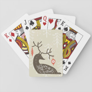Merry Christmas Reindeer Cozy Playing Cards