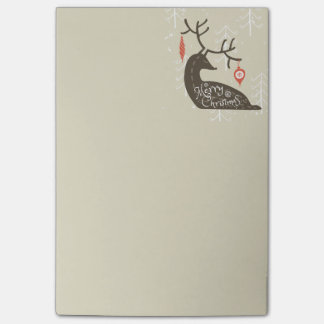 Merry Christmas Reindeer Cozy Post-it® Notes