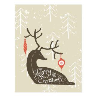 Merry Christmas Reindeer Cozy Postcard