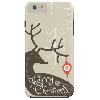 Merry Christmas Reindeer Cozy Tough iPhone 6 Plus Case