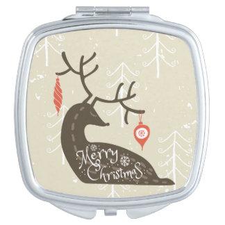Merry Christmas Reindeer Cozy Vanity Mirror