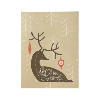 Christmas Reindeer Posters | Zazzle.com.au