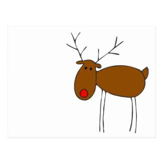 Merry Christmas Reindeer Postcard