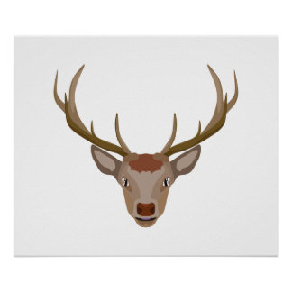 Nosed Reindeer Posters | Zazzle.com.au