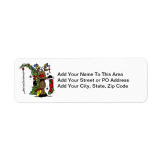 Merry Christmas Reindeer Return Address Label