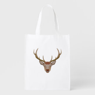 Merry Christmas Reindeer Reusable Grocery Bag