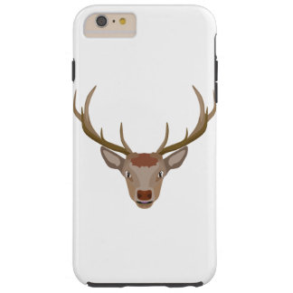 Merry Christmas Reindeer Tough iPhone 6 Plus Case