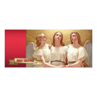 "Merry Christmas.Religious Fine Art Christmas Cards 4"" X 9.25"" Invitation Card"
