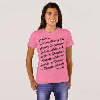 Merry Christmas repeat pattern T-Shirt