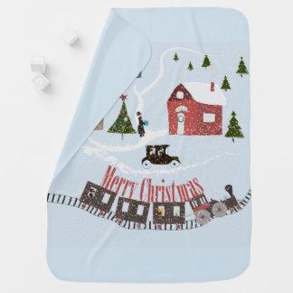 Merry Christmas , retro Baby Blanket
