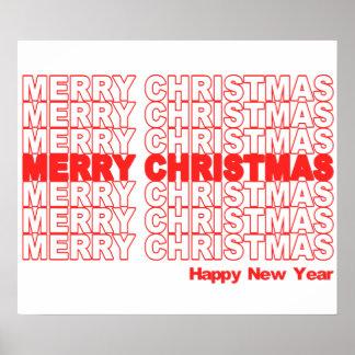 Merry Christmas Retro Holiday Poster