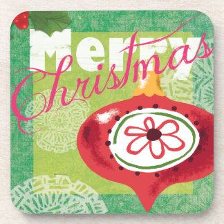Merry Christmas Retro look Coasters