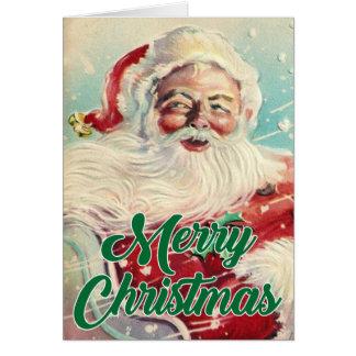 Merry Christmas | Retro Santa Claus Card
