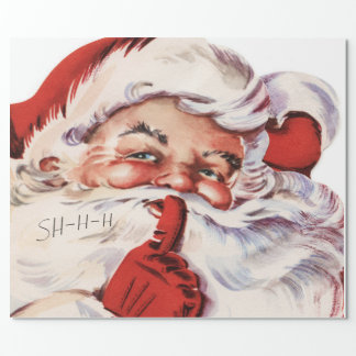 Merry Christmas, Retro Santa Claus, Custom Wrapping Paper