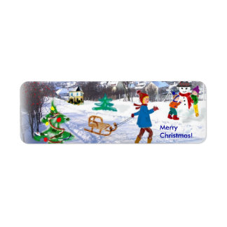 Merry Christmas! Return Address Label