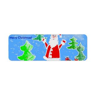 Merry Christmas! Return Address Label