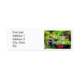 Merry Christmas Return Address Label