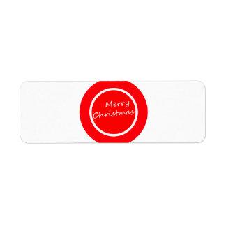 Merry Christmas (Return Address Label) Return Address Label