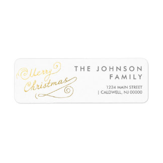 Merry Christmas Return Address Labels