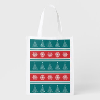 Merry Christmas Reusable Grocery Bag