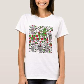 Merry Christmas Robot T-Shirt