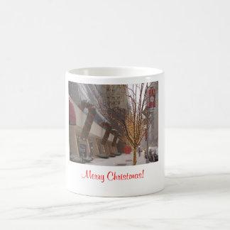 Merry Christmas! Rockefeller center (Color) Basic White Mug